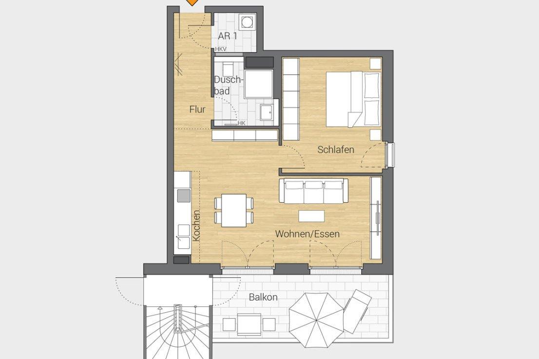 法兰克福家庭友好型的摩登公寓