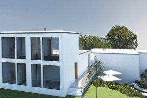 Очень просторный современный дом