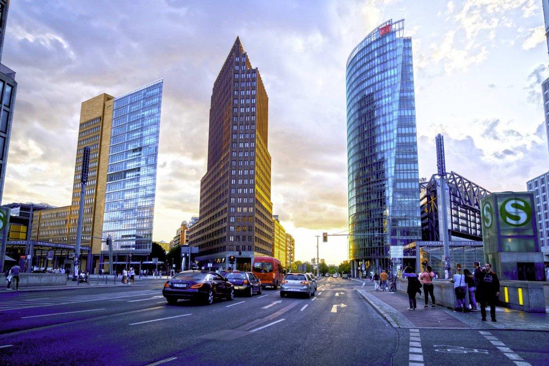 Modern building at Potzdamer Platz